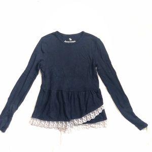 ⭐️ 5/$30 A&F navy knit long sleeve NWOT